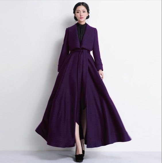 2015 automne hiver femme laine manteau ultra long manteau plus la taille manteau de laine mince. Black Bedroom Furniture Sets. Home Design Ideas