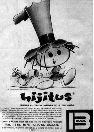 """""""Las aventuras de Hijitus"""", Canal 13, Buenos Aires. Década del 70."""