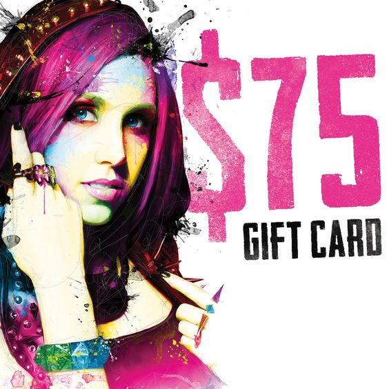 $75 Electronic GIFT CARD / Icon For Hire