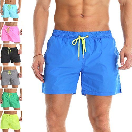 dc0d6c7694f7 YnimioAOX Men's Trunks Quick Dry Shorts Gym Athletic Bodybuilding with Pockets  Swimming Briefs (Blue, XL/US M) | High Weight Capacity in 2019 | Pinterest  ...