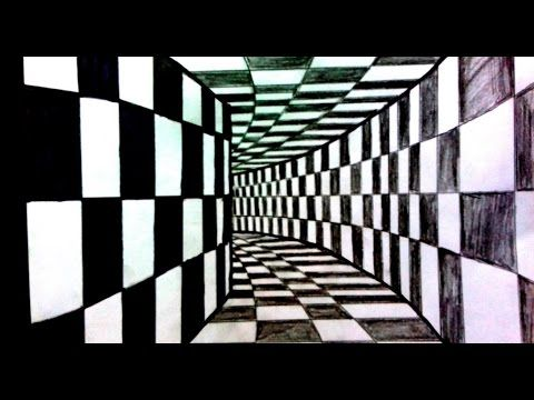 3d Tunel Cizimi Uc Boyutlu Tunel Cizim How To Draw 3d Tunnel