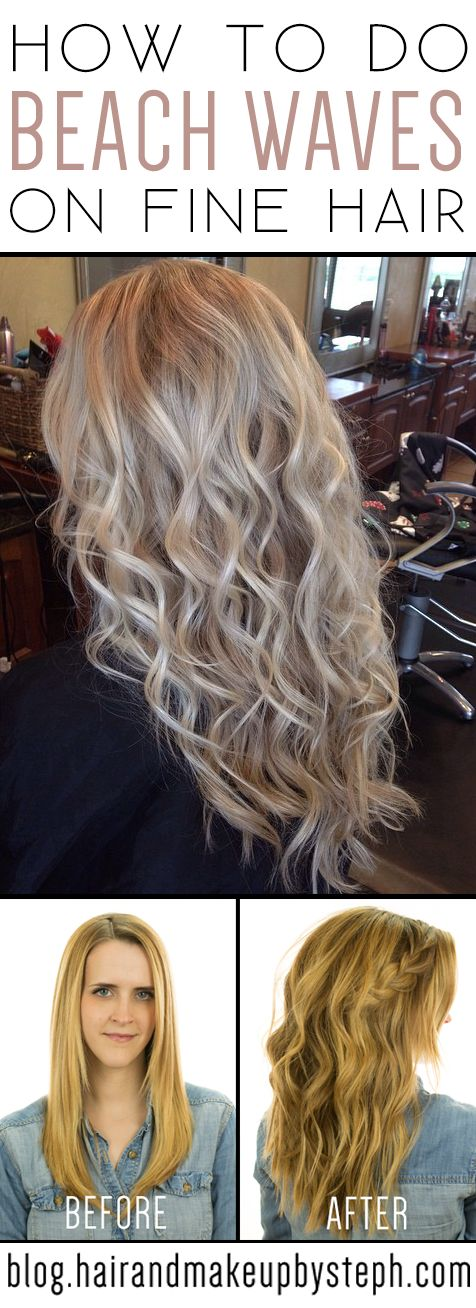 Hair and Make-up by Steph: How To: Braided Beach Waves on fine hair