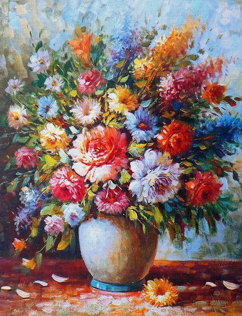 صور فنية جميلة فن راقي من أجمل الصور الفنية Oil Painting Flowers Flower Painting Painting