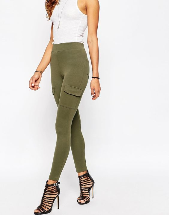 Image 4 of ASOS Stretch Skinny Trousers with Patch Pockets
