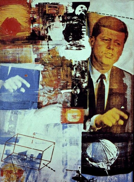 Robert Rauschenberg, Buffalo II, 1964. Oil on canvas.: