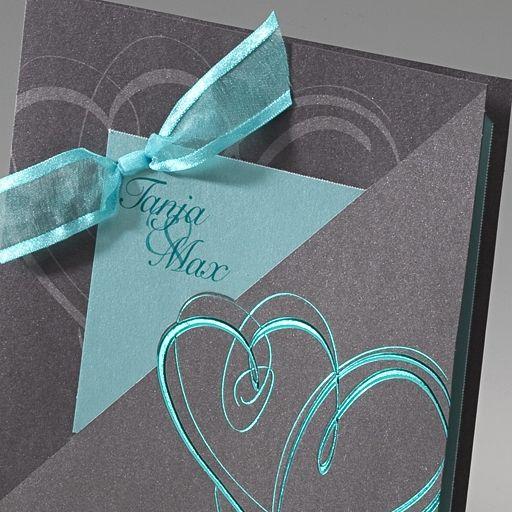 """Hochzeitseinladung """"Isabella"""" - elegante Karte zu Ihrer Hochzeit - weddix.de"""