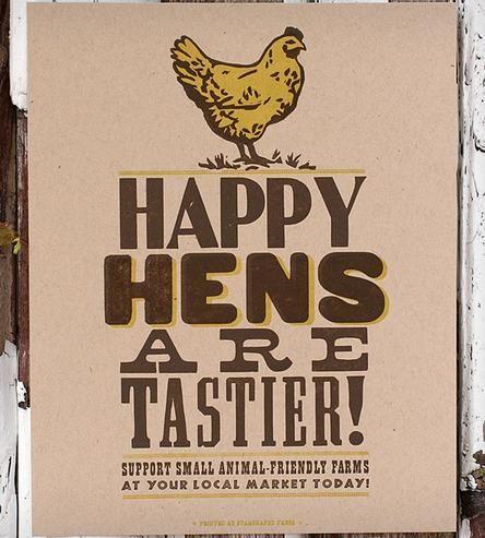 Happy Hens Letterpress Print   Art Prints   Starshaped Press   Scoutmob Shoppe   Product Detail