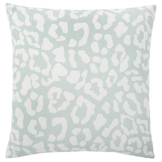 Complete the look of your couch with this Andrew Charles animal print Throw Pillow featuring a ocelot print. The blue colors will complement your decor while adding extra style to your sofa, chair or bed. This pillow is crafted of cotton.