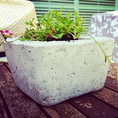 DIY : un cache-pot en béton !