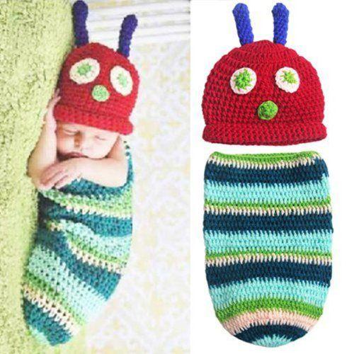 Museya Cute Caterpillar Style Baby Infant Newborn Handmade Crochet Beanie Hat Clothes Baby Photograph Props Museya http://www.amazon.co.uk/dp/B00KD8SQ78/ref=cm_sw_r_pi_dp_gvUfub00QD7XV