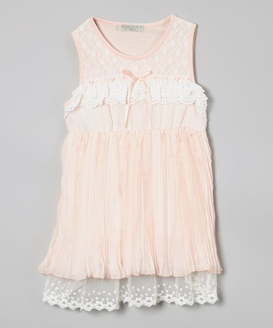 Peach Tiered Ruffle Babydoll Dress - Infant, Toddler & Girls | zulily