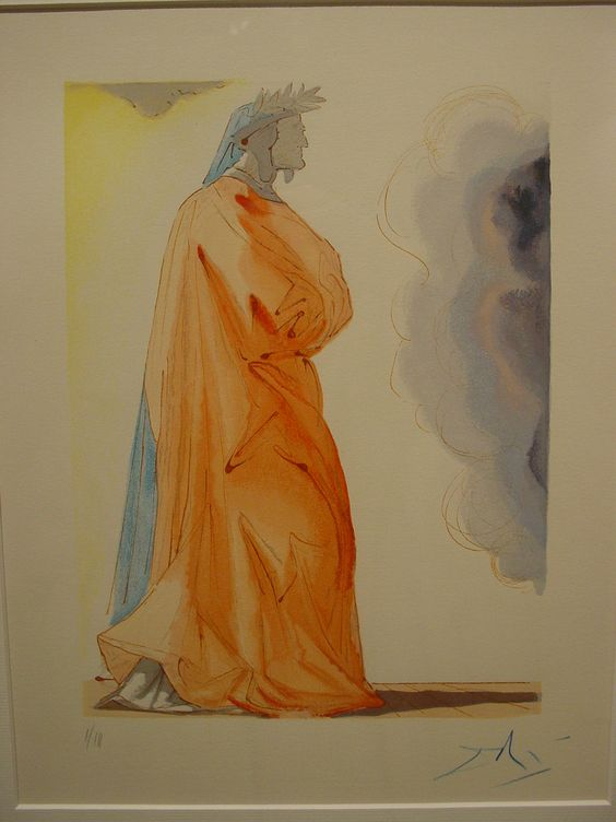 #Dante Alighieri painted by Salvador #Dalì for an illustrated edition of the Divine Comedy.: