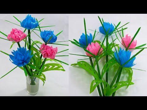 Cara Buat Bunga Dari Sedotan Yang Manis New Design Straw Flower