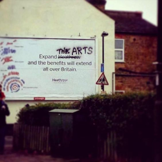 We have to agree with that ad takeover... #arts #publicspaces #creativity #progress #streetart