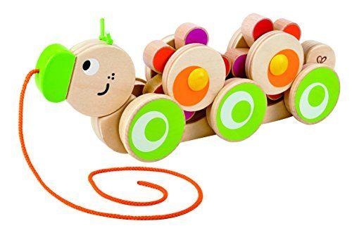 Hape - Walk-A-Long Caterpillar Wooden Pull Toy Hape https://www.amazon.com/dp/B00NFVNU76/ref=cm_sw_r_pi_awdb_x_oPAoybCD41C1M