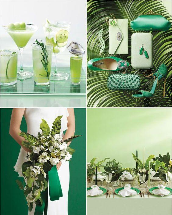 WEDDING PALLET SCHEMES   Wedding color inspiration: Emerald and Jade