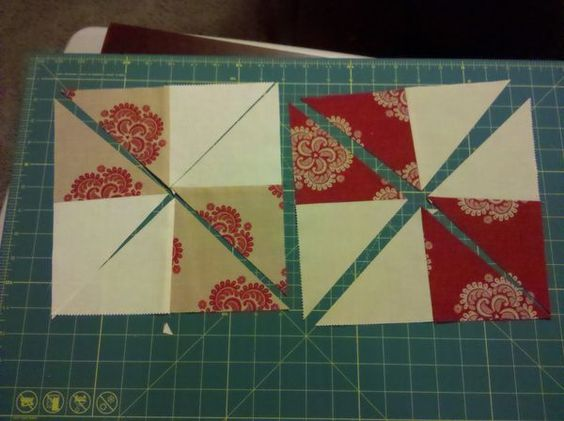Disappearing 4 patch/pinwheel using charm packs!! Quilt block love Pinterest Sewing ...