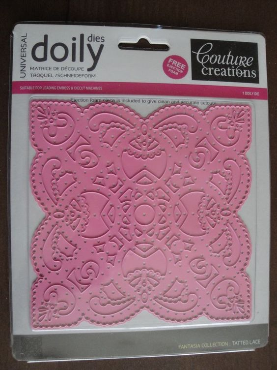 NEW COUTURE CREATIONS Doily Dies TATTED LACE Fantasia Collection #CoutureCreations
