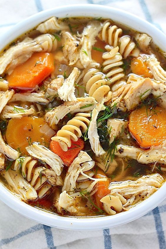 Flu Fighter Chicken Noodle Soup Recipe Homemade