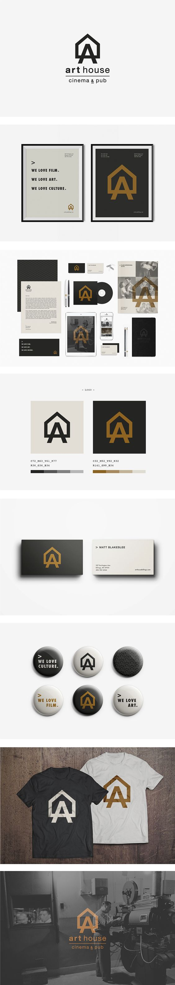"""1. I like the idea of a """"house"""", a creative """"space"""". 2. clean and bold logo 3. their motto: """"we love art. we love culture. etc..."""""""