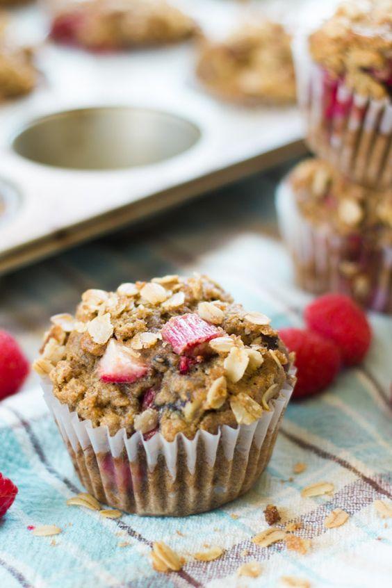 Raspberry Rhubarb Muffins:
