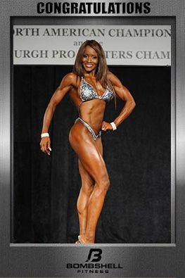 2015 IFBB North American Championships  Bombshell Teresa Smith Dillard NPC Figure Over 40 Champion - NEW IFBB PRO