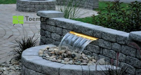 Let 2021 be the year you finally realize your childhood dream of owning your own waterfall 🌊 Introducing Colorfalls - choose your design, choose your colour, choose Toemar to make your dream come true 😉 #backyardwaterfall #gardenwaterfall #mississaugalandscaping