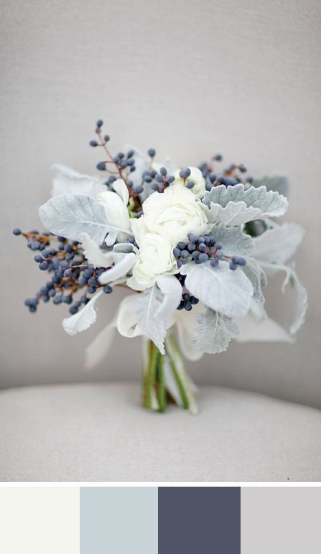 White as Snow: 5 Winter White Color Palettes for your Wedding Day: