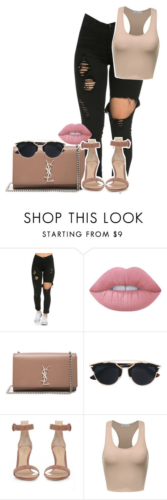 """yes?"" by rebelde4life ❤ liked on Polyvore featuring Lime Crime, Yves Saint Laurent, Christian Dior and Gianvito Rossi"