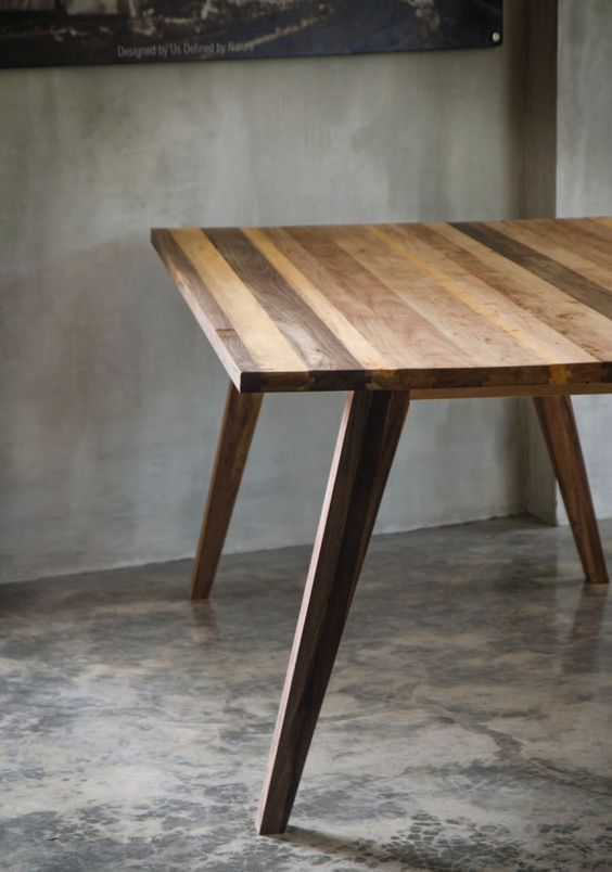 Modern Furniture Made From A Mix Of Reclaimed Woods The
