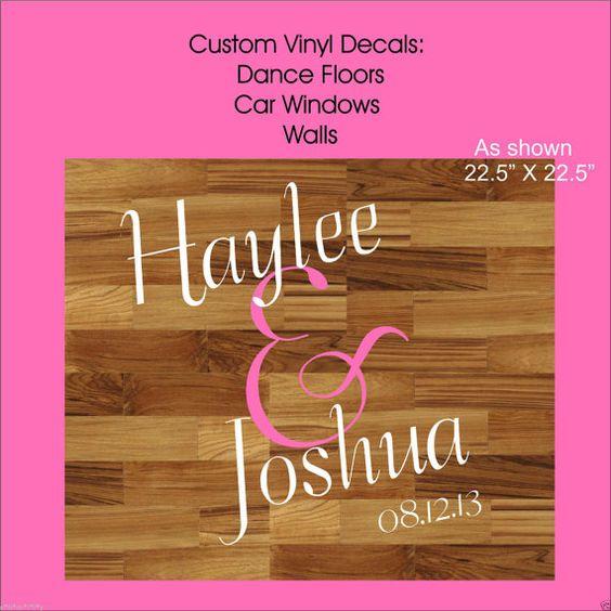 wedding vinyl decals dance floor walls instant install easy removal