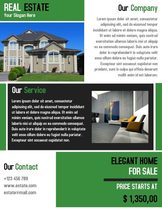 Home Interior Flyer Template Design Real Estate Flyer Template Template Design Real Estate Flyers