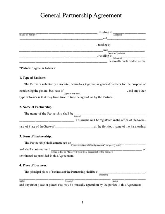 Printable Sample Partnership Agreement Sample Form Real Estate - mutual agreement format