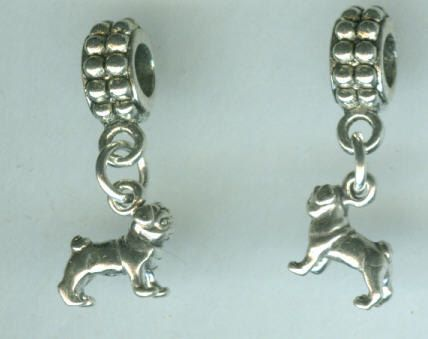 Hey, I found this really awesome Etsy listing at https://www.etsy.com/listing/83444287/sterling-silver-pug-dog-bead-charm-for