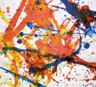 Tippytoe Crafts: famous artists.                   Jackson Pollock's Splatter Painting. Water down paint to make it easier to flick. Use paint brush to flick paint on paper. Use Kraft stick to dribble paint.