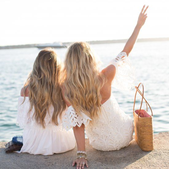 Teamed up with another blogger to share our favorite trend for summer- little white off the shoulder dresses.
