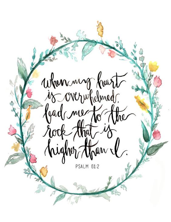 Hand Lettered Art Print Psalm 61:2 by AprylMade on Etsy