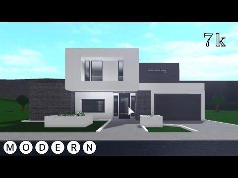 7k Modern Villa House Build Exterior Bloxburg Youtube Unique House Design Tiny House Exterior Simple House Plans