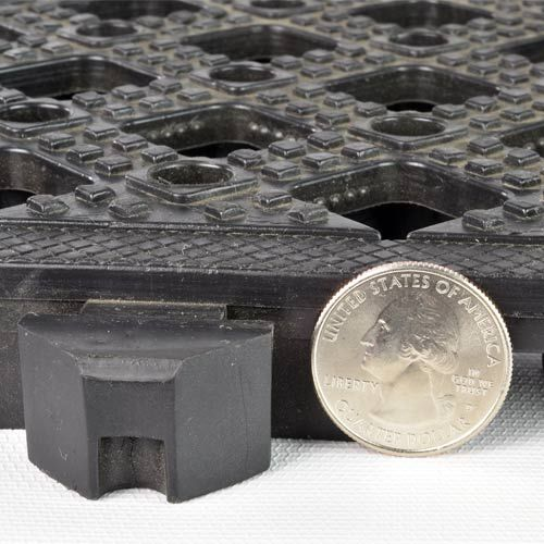 Safety Matta Perforated Black Tile Cushioned Anti Fatigue Flooring Anti Fatigue Flooring Black Tiles Plastic Tile