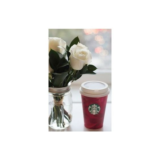 Starbucks Red Cups Have Arrived! 30 Snaps For Festive Inspiration ❤ liked on Polyvore featuring home, kitchen & dining and drinkware
