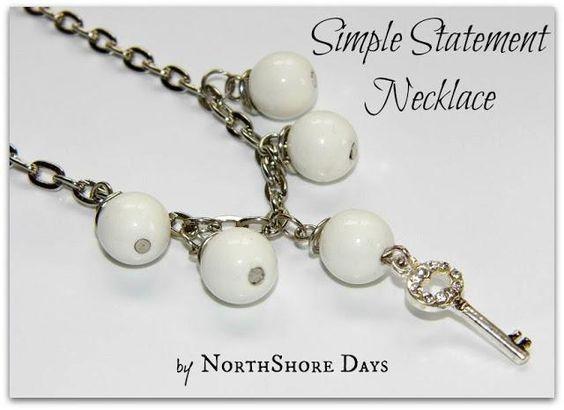 DIY Necklace  : DIY Simple Statement Necklace