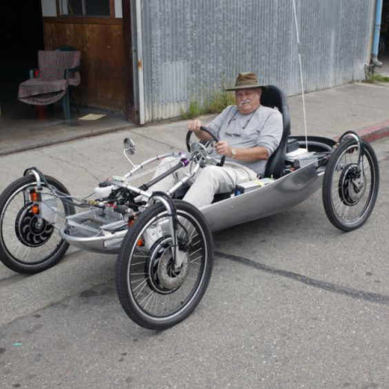 Home built neighborhood electric vehicle looks like 4 for Is a bicycle considered a motor vehicle
