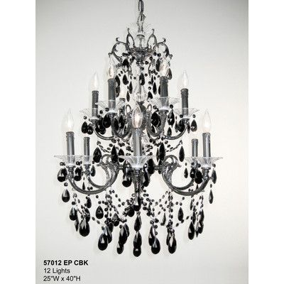 Classic Lighting Via Venteo 12 Light Crystal Chandelier Crystal ...