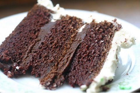 Guinness Chocolate Cake with Ganache Filling from The Balanced Baker