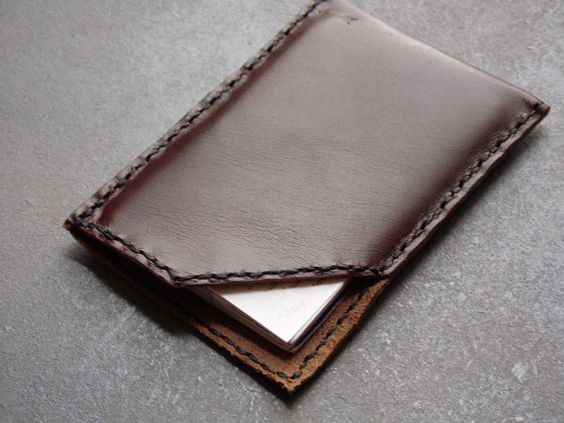 Wallet for left-handed  This minimalist card holder / slim wallet was made…
