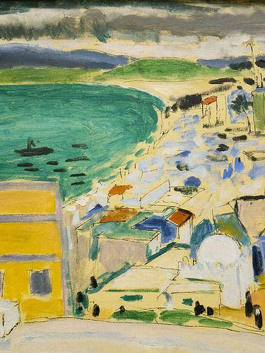"""Henri Matisse (Cateau-Cambrésis, 1869 - Nice, 1954) """"Vue sur la baie de Tanger"""" dét. (1912 - 1913) musée de Grenoble (Isère, France)"""