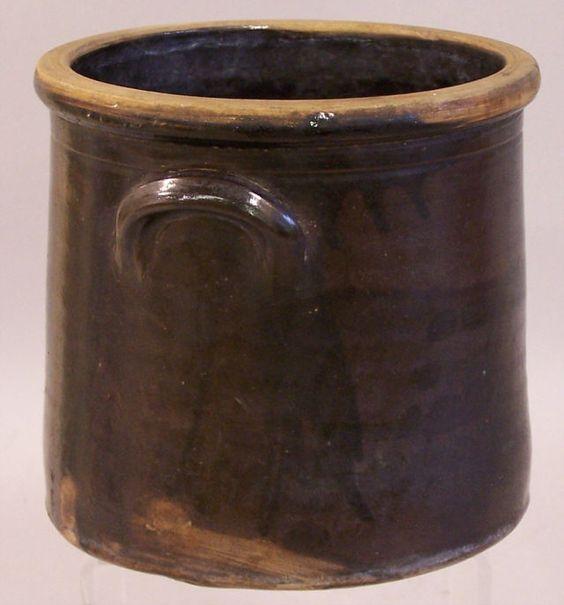 Vintage Stoneware Crocks | Early Connecticut stoneware brown drip glaze crock c1800 : Item # 5597 ...
