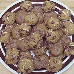 Coffee Chocolate Chip Cookies: didn't put any almonds but they still came out amazing!