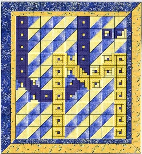 University of Michigan Quilt Kit ~ I really like this pattern.  I can changed the letters around and the colors for my daughter's school.  This is doable.