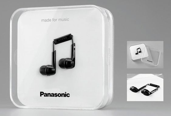 Berlin's Scholz & Friends created this package for Panasonic headphones, using the actual product as a design element.